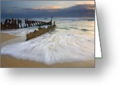 Washing Greeting Cards - Swept Ashore Greeting Card by Mike  Dawson