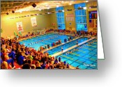 Catonsville Greeting Cards - Swim Meet Greeting Card by Stephen Younts