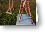 Neglected Greeting Cards - Swings Greeting Card by Bernard Jaubert