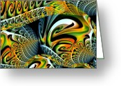 Maria Urso Greeting Cards - Swirling Colors Greeting Card by Maria Urso - Artist and Photographer