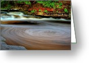 Commission Photo Greeting Cards - Swirls Greeting Card by David Hahn