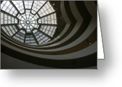 Guggenheim Greeting Cards - Swirls Greeting Card by Jeff Porter