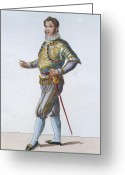 Hand On Hip Greeting Cards - Swiss Guard Captain Greeting Card by Hulton Archive