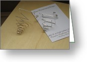 Gift Jewelry Greeting Cards - Switchback Trails Handmade Sterling Silver Earrings Greeting Card by Naomi Mountainspring