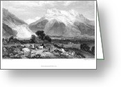 1833 Greeting Cards - Switzerland: Grindenwald Greeting Card by Granger