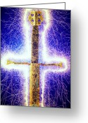 Magic Greeting Cards - Sword with sparks Greeting Card by Garry Gay