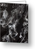 Vapor Greeting Cards - Swriling Smoke  Greeting Card by Garry Gay