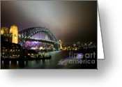 Sydney Harbour. Circular Quay Greeting Cards - Sydney Ferry Greeting Card by Kirsten Chee