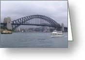 Fineartprint Greeting Cards - Sydney Harbour Bridge Greeting Card by Brian Leverton