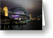Sydney Harbour. Circular Quay Greeting Cards - Sydney Harbour Bridge Greeting Card by Kirsten Chee