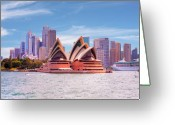 Custom Culture Greeting Cards - Sydney Opera House Australia Greeting Card by Chris Smith