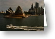 Sydney Harbour. Circular Quay Greeting Cards - Sydney Opera House Australia Greeting Card by Noel Elliot