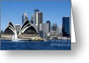 Sydney Harbour. Circular Quay Greeting Cards - Sydney Opera House Greeting Card by Peter Phipp