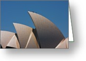 Oceania Greeting Cards - Sydney Opera House Sails Greeting Card by John Buxton