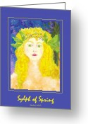 Goddess Posters Greeting Cards - Sylph of Spring Poster Greeting Card by Shelley Bain