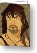 Portrait Reliefs Greeting Cards - Sylvester Stallone Greeting Card by Kovats Daniela