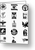 War Production Greeting Cards - Symbols: World War Ii Greeting Card by Granger