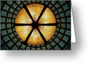 Featured Greeting Cards - Symmetric Lights Greeting Card by Matt Cangelosi