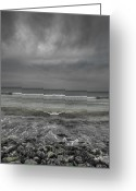 Rain Cloud Greeting Cards - Symmetry in Chaos Greeting Card by Andy Astbury
