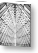 Black And White Photograph Greeting Cards - Symmetry Greeting Card by Scott Norris