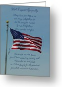 Robyn Stacey Photo Greeting Cards - Sympathy Flag Military Greeting Card by Robyn Stacey
