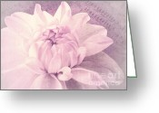 Flowery Greeting Cards - Symphony in pink Greeting Card by Angela Doelling AD DESIGN Photo and PhotoArt