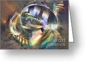 Computerart Greeting Cards - Symphony of colors - Fractal art Greeting Card by Sipo Liimatainen