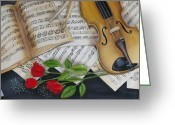 Drum Sticks Greeting Cards - Symphony Greeting Card by Sharlene Schmidt