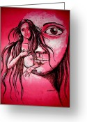 Pieta Painting Greeting Cards - Synonym of Love and Beauty Greeting Card by Paulo Zerbato