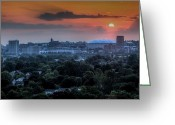 Syracuse Greeting Cards - Syracuse Sunrise Greeting Card by Everet Regal