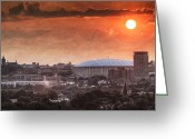 Syracuse Orange Greeting Cards - Syracuse Sunrise over the Dome Greeting Card by Everet Regal