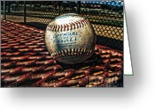 Baseball Parks Photo Greeting Cards - T-ball Greeting Card by Christina Perry