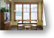 Cabinet Room Greeting Cards - Table and Hutch in Dining room Greeting Card by Andersen Ross
