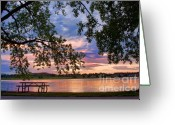 Sunset Posters Greeting Cards - Table for four with a view Greeting Card by James Bo Insogna