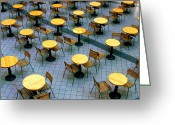 Washington Post Greeting Cards - Tables and Chairs II Greeting Card by Steven Ainsworth