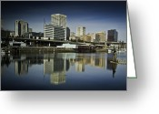 Tacoma Greeting Cards - Tacoma Town Greeting Card by Dale Stillman