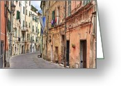 Old City Greeting Cards - Taggia in Liguria Greeting Card by Joana Kruse