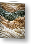  Color  Colorful Greeting Cards - Tagliolini pasta Greeting Card by Elena Elisseeva