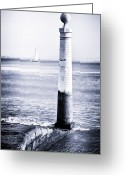 Sailboat Picture Greeting Cards - Tagus River View Greeting Card by John Rizzuto