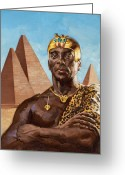 Aristocracy And Royalty Greeting Cards - Taharqa Was The Greatest Of Egypts Greeting Card by Gregory Manchess