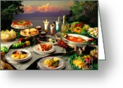 Brunch Greeting Cards - Tahoe Buffet Greeting Card by Vance Fox