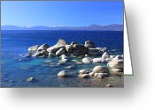 Iphonesia Greeting Cards - Tahoe East Shore 1 Greeting Card by Mickey Hatt