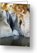 Landscape Greeting Cards - Tahquitz Falls Greeting Card by Snake Jagger