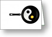 Pan Greeting Cards - Taijitu Greeting Card by Gert Lavsen