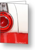 Cave Mixed Media Greeting Cards - Tail Light in Red and White Greeting Card by ArtyZen Studios