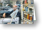 Manhattan Street Scenes Greeting Cards - Tailor Shop Greeting Card by Sarah Loft