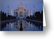 Asian Architecture And Art Greeting Cards - Taj Mahal At Sunrise, Agra, India Greeting Card by Michael S. Lewis