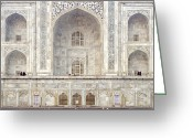 Islamic Greeting Cards - Taj Mahal II Greeting Card by Nina Papiorek