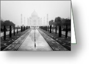 Islamic Greeting Cards - Taj Mahal III Greeting Card by Nina Papiorek