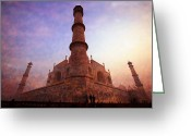 Charismatic Greeting Cards - Taj Mahal side view Greeting Card by Karel Noppe